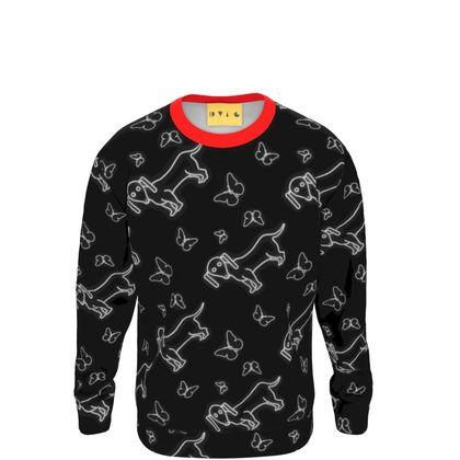 Dachshund and Butterfly Sweatshirt