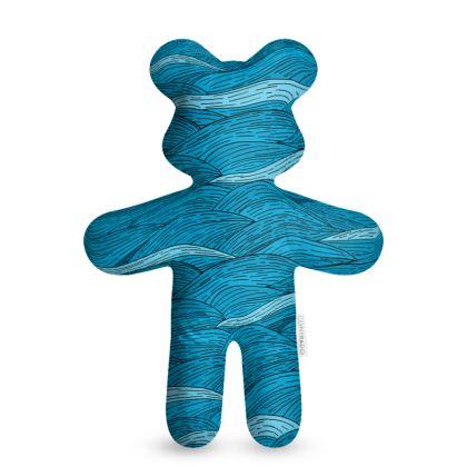 Teddy Bear - Blue Waves