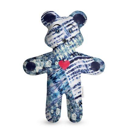 Tie Dye Quilt Boho Teddy Bear
