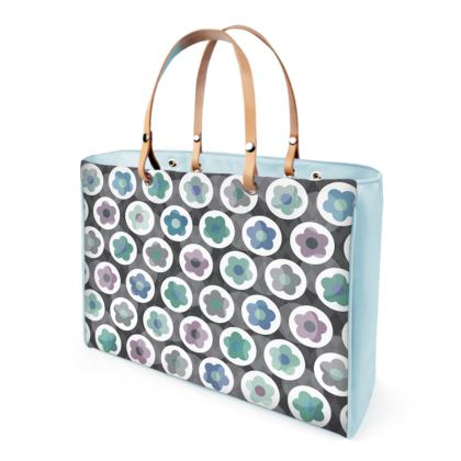 Mod Floral, Seafood - Leather Handbags