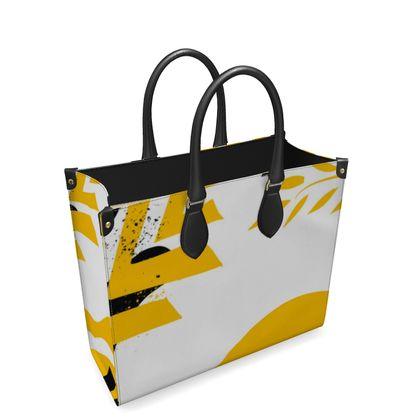 Leather Shopper Bag- Emmeline Anne Rays Of Summer