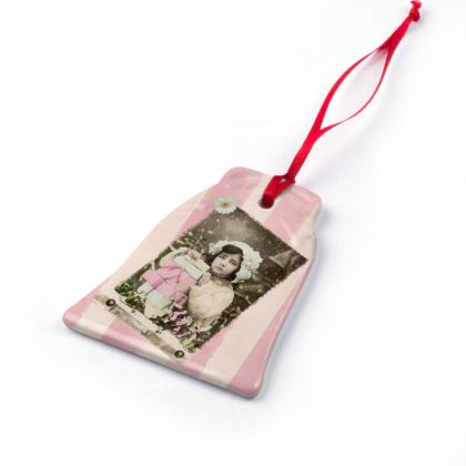 Vintage Postcard Christmas Ornaments