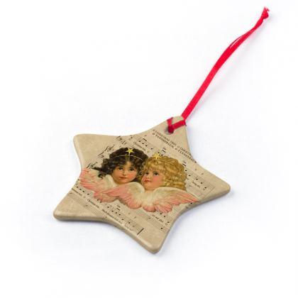 Vintage Christmas Cherub Ornaments