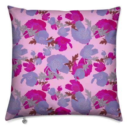 Cushions Field Poppies  Mauve