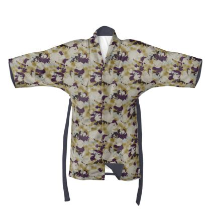 Kimono  Field Poppies  Blackberry Latte