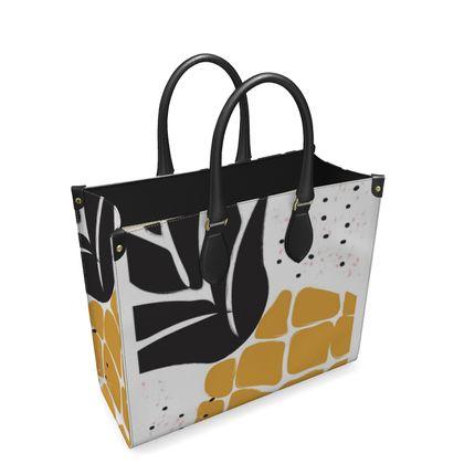 Leather Shopper Bag- Emmeline Anne Pineapple