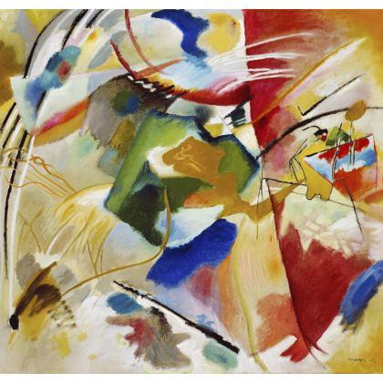 Kandinsky Abstract Throw Cushion