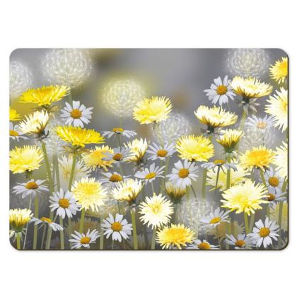 Large Placemats - Dandelion and Daisy Meadow