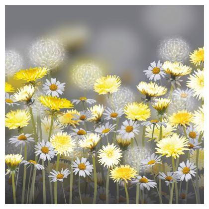 Dandelion and Daisy Meadow Luxury Cushion