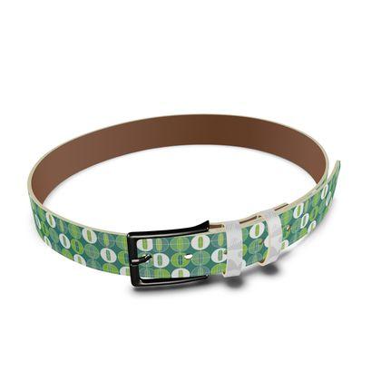 Geo Dome Leather Belt