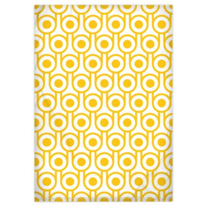 Yellow fried eggs reversible duvet cover