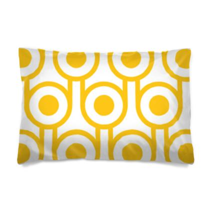 Yellow fried eggs reversible pillowcase