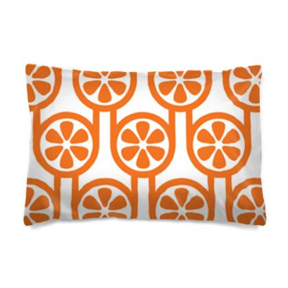 Orange oranges reversible pillowcase