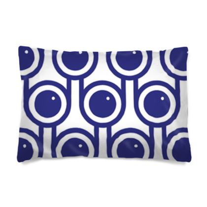 Blue blueberries reversible pillowcase
