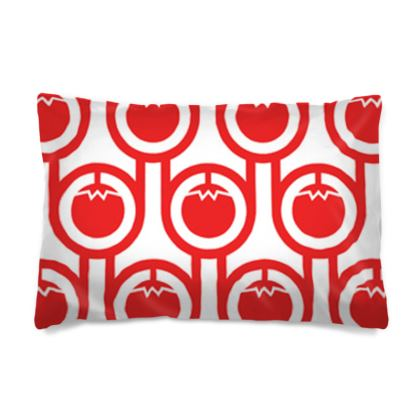 Red tomatoes reversible pillowcase