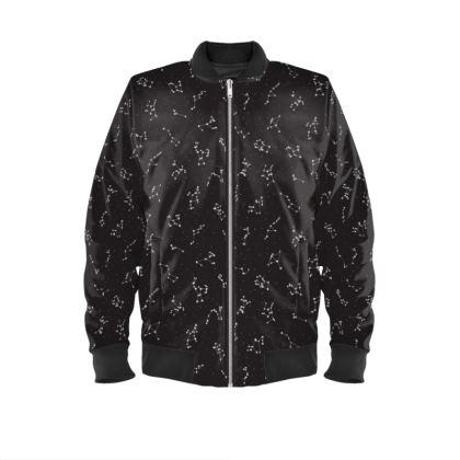 Constellation Print Mens Bomber Jacket