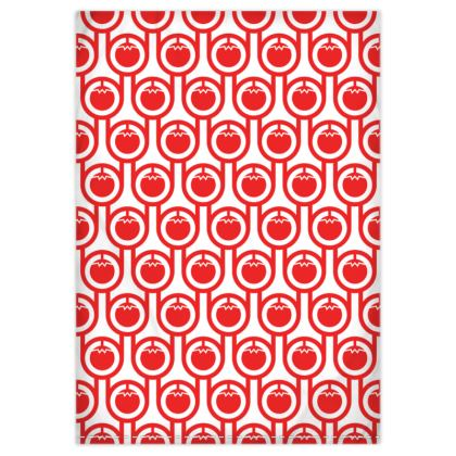 Red tomatoes reversible duvet cover