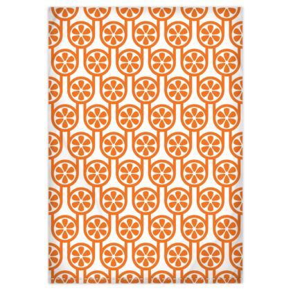 Orange oranges reversible duvet cover