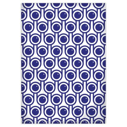 Blue blueberries reversible duvet cover