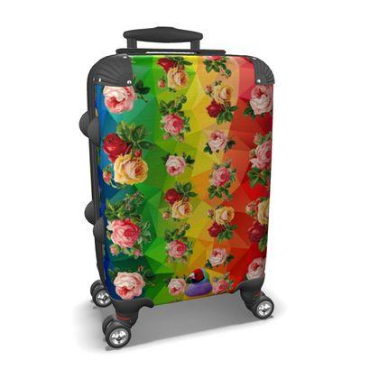 Rainbow Roses Suitcase