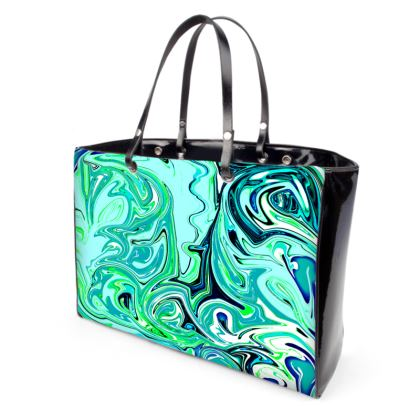 Emerald Waves Handbag