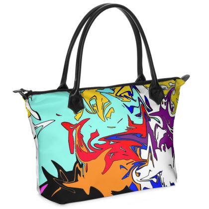 Cartoon Zip Top Handbag