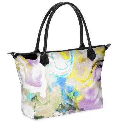Quartz Zip Top Handbag