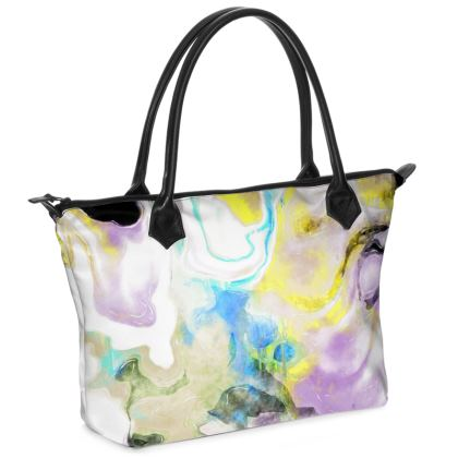 Quartz Zip Top Handbag
