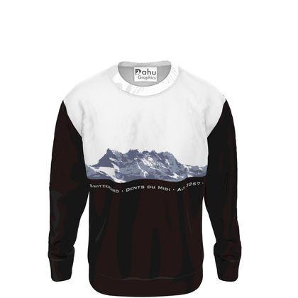 Sweatshirt - B&W - Dents du Midi