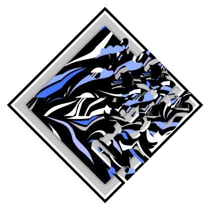 Elegante cuscino con stampa artistica
