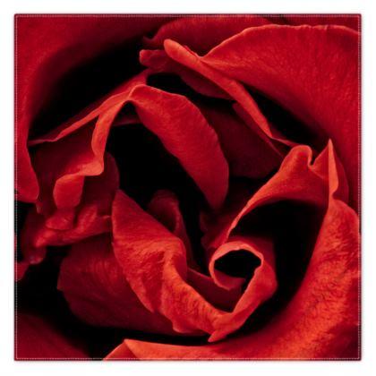 Red Rose Scarf Wrap or Shawl