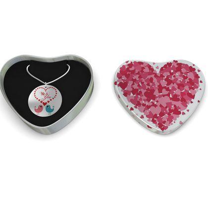Heart Lovebirds Sterling Silver Necklace