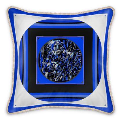 Cuscino in seta con stampa artistica  linea gli astratti