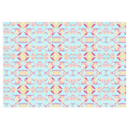 Occasional Chair  Regal Leaves  Cobalt Sky