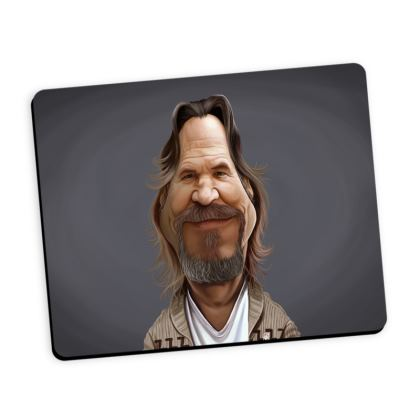 Jeff Bridges Celebrity Caricature Mouse Mat