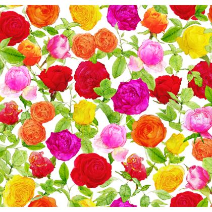 Luggage Tag  - Riot of Roses
