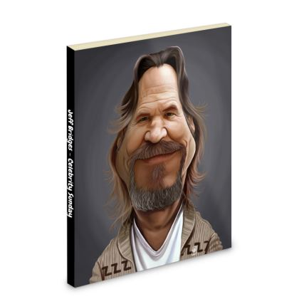 Jeff Bridges Celebrity Caricature Pocket Note Book