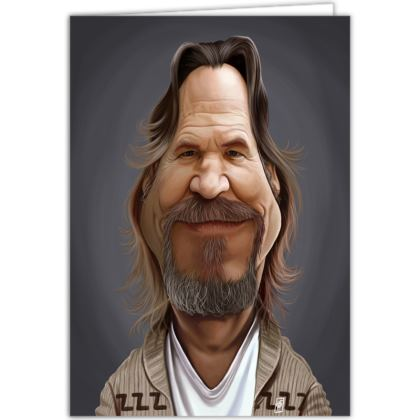 Jeff Bridges Celebrity Caricature Occasions Cards