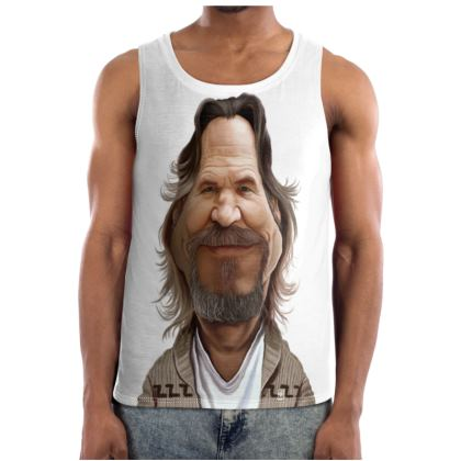 Jeff Bridges Celebrity Caricature Cut and Sew Vest