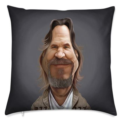 Jeff Bridges Celebrity Caricature Cushion
