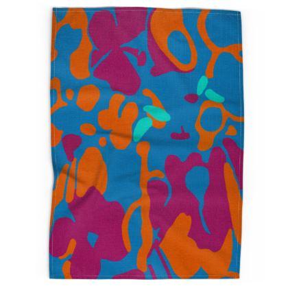 Tea Towel - Hint of Hydrangea