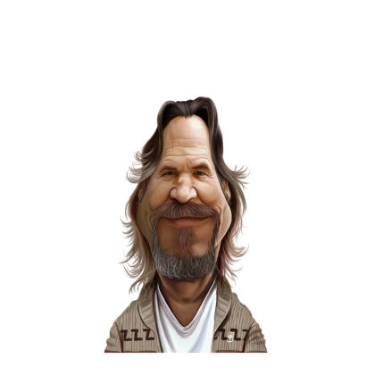 Jeff Bridges Celebrity Caricature Ladies Cut and Sew Vest