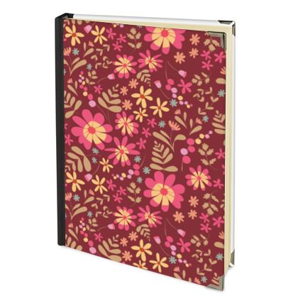 Beautiful Botanica Floral Print 2022 Deluxe Diary -Ruby Wine