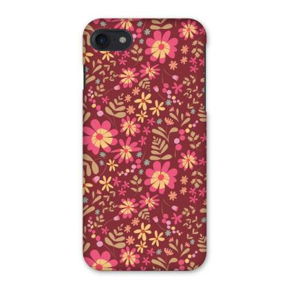 Beautiful Botanica Floral Print iPhone 7 Case - Ruby Wine
