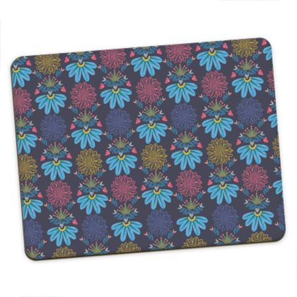 Blue Floral Craft  Placemats