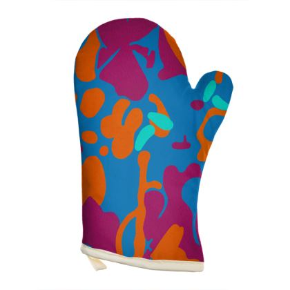 Left Hand Oven Glove - Hint of Hydrangea