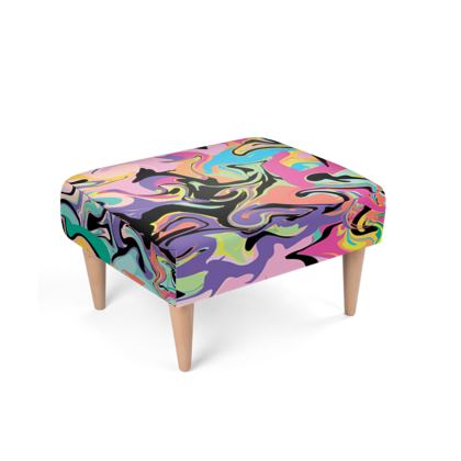 Abstract Footstool