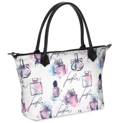 Perfume Bottle Zip Top Handbage
