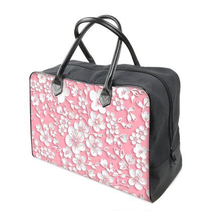 Pink Sakura Blossom Holdall