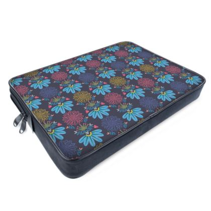 Blue Floral Craft  Laptop Bags